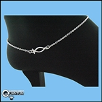 Sterling Silver Ichthus Fish Anklet (#BQ378)