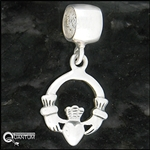 Sterling Silver Celtic Claddagh Add-a-Bead (#BQ444)