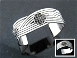 Braided Three Celtic Knot Cuff Bracelet (#JPEW5024)
