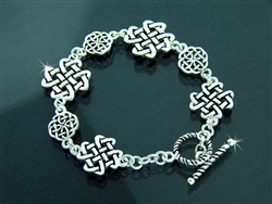 Pewter Celtic Love Knot Toggle Bracelet (#JPEW5587)