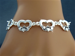 Pewter Celtic Claddagh Celebration Toggle Bracelet (#JPEW5866)