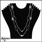 "Pewter Celtic Elegance 34"" Necklace (#JPEW5948)"