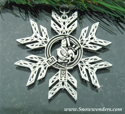 Pewter Scottish Piper SnowWonders® Snowflake (#JPEW6015)