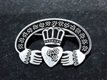 Pewter Claddagh Pin/Pendant (#JPEW6075)