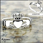 Sterling Silver Irish Claddagh Ring (#Q4110)