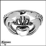 Stainless Steel Claddagh Ring (#S33)