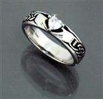 316 L Stainless Steel Claddaugh Ring (#S7)