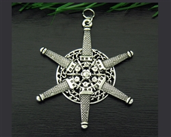 Pewter Lighthouse SnowWonders® Snowflake Ornament/Pendant (#SW5211)