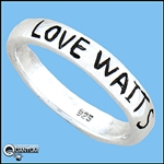 "Sterling Silver ""Love Waits"" Band Ring (#BQ410)"