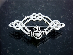 Pewter Claddagh and Celtic Knot Pin (#JPEW5505)