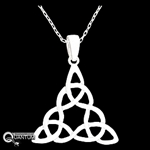 "Pewter Triple Trinity Knot Pendant on 18"" Chain (#JPEW5531)"