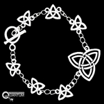 Pewter Celtic Trinity Knot Toggle Bracelet (#JPEW5893)