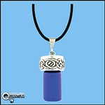 "Pewter Celtic Knot Aromatherapy Keepsake Vial 36"" Cord (#JPEW5924)"