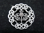 Pewter Celtic Thistle Brooch (#JPEW6074)