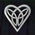 Pewter Celtic Heart Trinity Pin (Jpew6079)