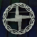 Pewter St bridget's cross Pin/Pendant (Jpew6080)