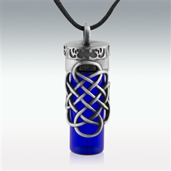 Pewter Open Celtic Knot Bottle (#PEW12)
