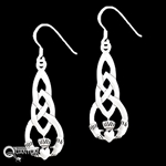 Sterling Silver Celtic Knot & Claddagh Earrings (#Q1151E)