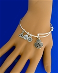 Shamrock Charm bangle USA(rpew1)