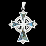 316 L Stainless Steel  Eternity trinity cross (#S17)
