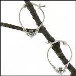 316 L Stainless Steel Claddagh Hoop Earrings (#S25)