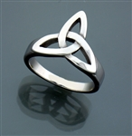 316L Stainless Steel Bold Trinity Ring ( S32B)