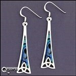 316 L Stainless Steel Trinity Tower Earrings with Abalone(s66)