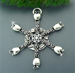 Pewter Teacher SnowWonders® Snowflake Ornament/Pendant (#SW5185)