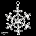 Pewter Celtic Cross SnowWonders® Snowflake Ornament/Pendant (#SW5195)