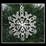 Pewter Scottish Thistle SnowWonders® Snowflake Ornament/Pendant (#SW5233)