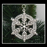 Pewter Train SnowWonders® Snowflake Pewter Ornament/Pendant (#SW5818)